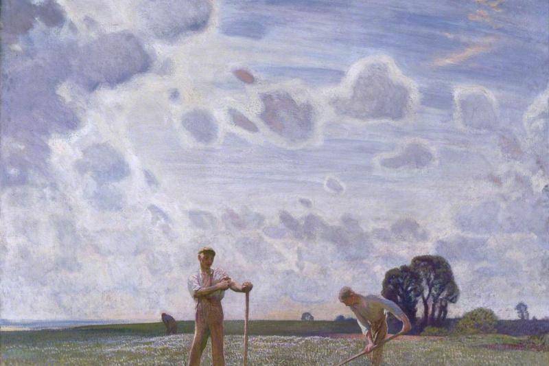 George Clausen. Fields in June