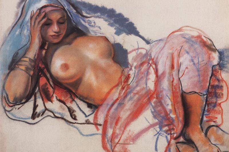 Zinaida Serebryakova. The lying Moroccan
