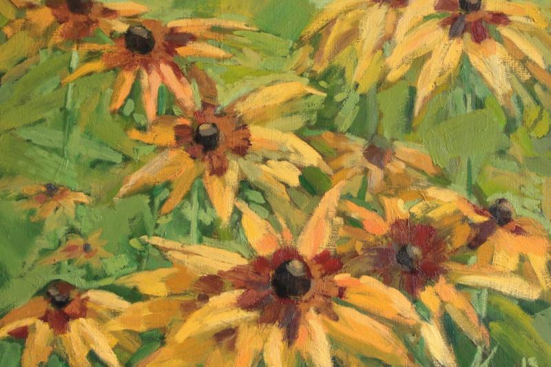 Alyona Kogan. Yellow flowers