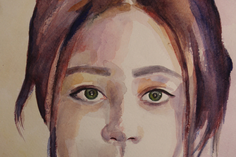 Xenia Barinova. Portrait of a girl watercolor