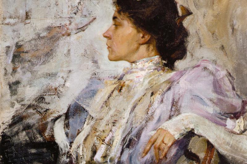 Nikolay Feshin. The lady in purple