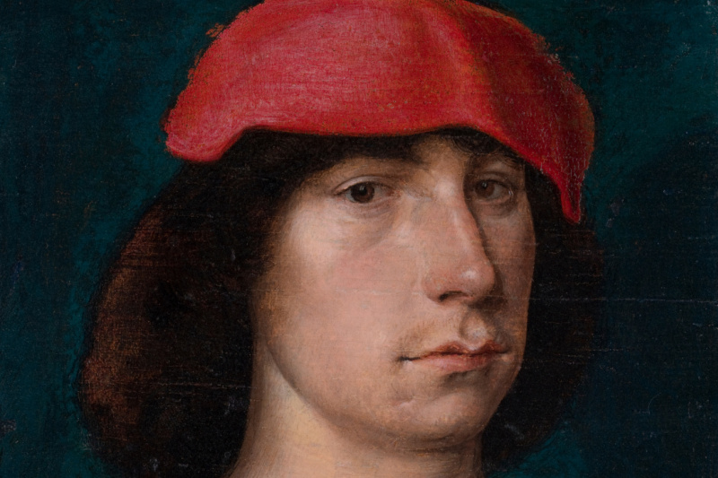 Michel Sittow. A Young Man in a Red Cap