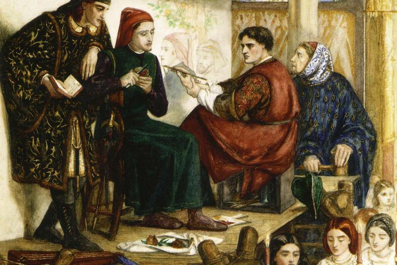 Dante Gabriel Rossetti. Giotto's portrait of Dante