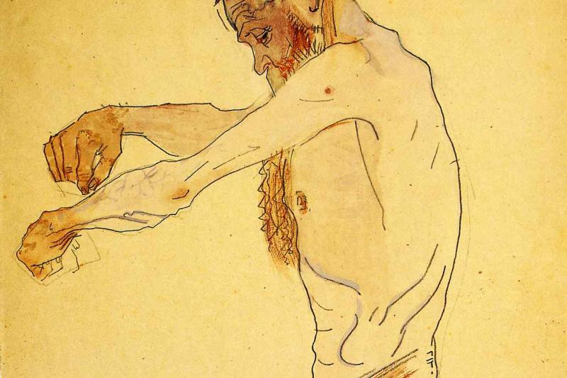 Оскар Кокошка. Мужчина без одежды
