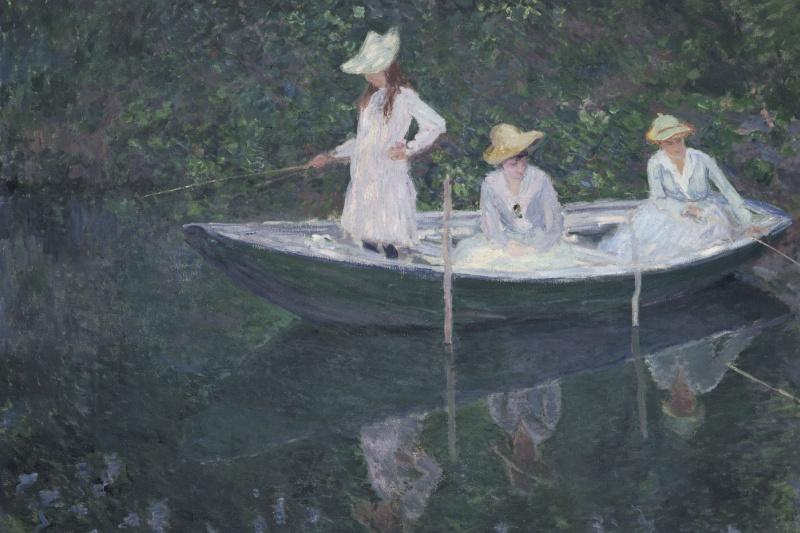 Claude Monet. In the Norwegian boat in Giverny