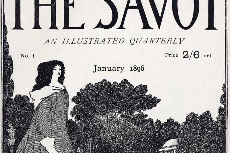 Aubrey Beardsley. Savoy (cover of the magazine)