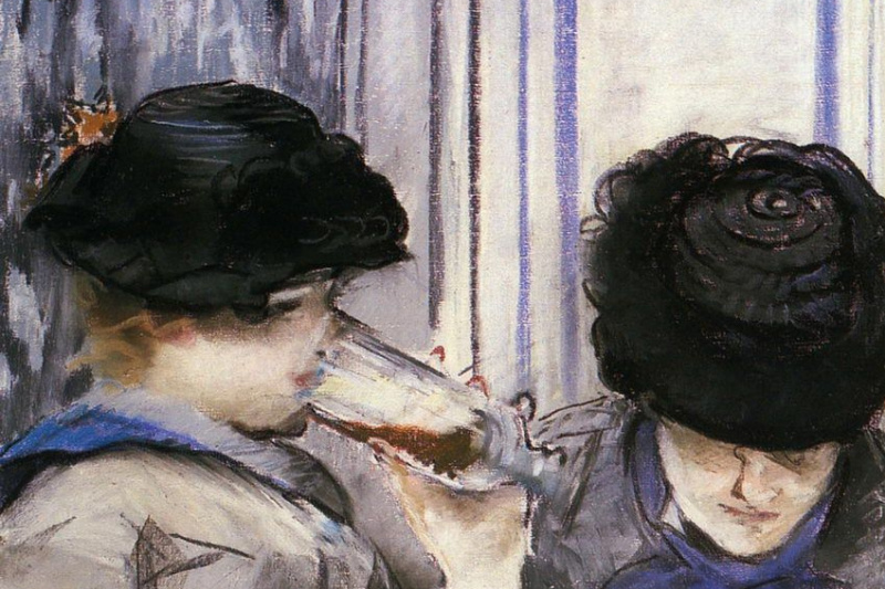 Edouard Manet. Two women drinking beer