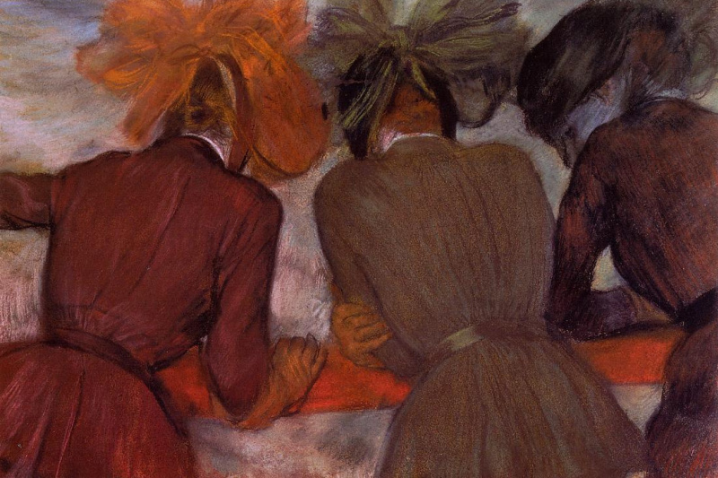 Edgar Degas. Women on the balcony