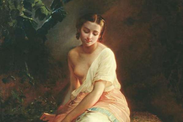 Андрей Францевич Беллоли (1820-1881). Купальщица, вариант картины