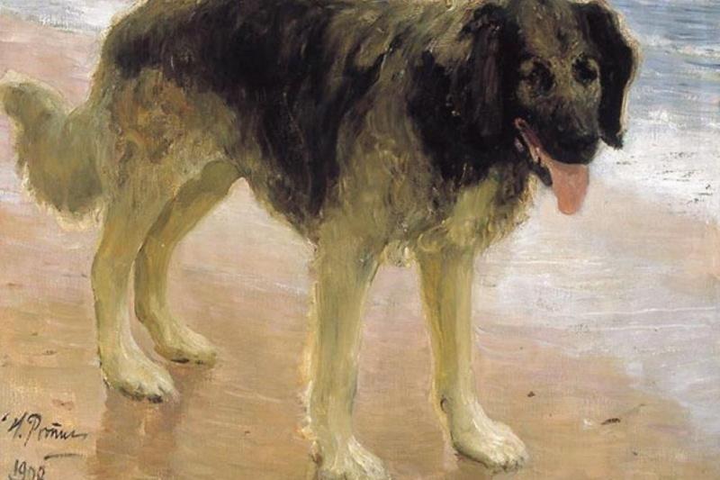 Ilya Efimovich Repin. Man's best friend (Dog)