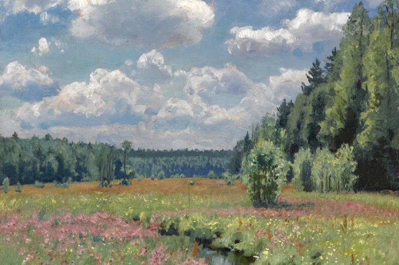 Stanislav Yulianovich Zhukovsky. Summer meadow