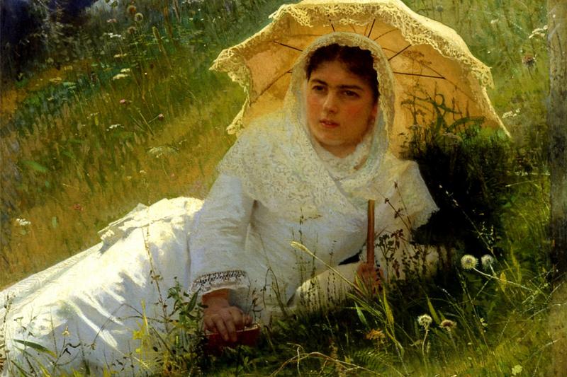 Иван Николаевич Крамской. Женщина под зонтиком (В полдень)