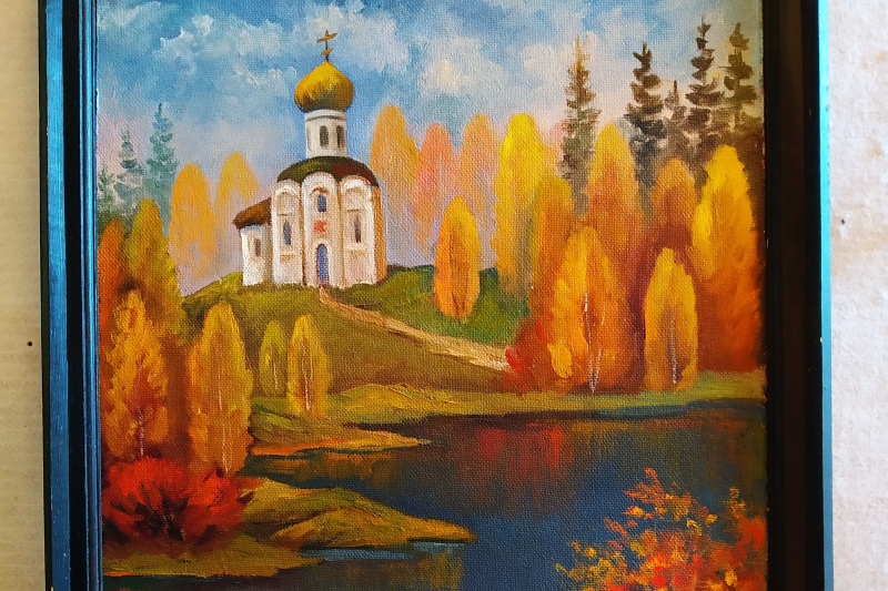 Nikolay Vladimirovich Vladimirov Ich. Temple over water