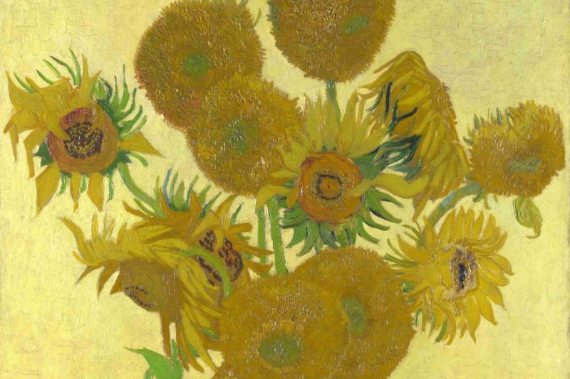 Vincent van Gogh. Sunflowers (Vase with fifteen sunflowers)