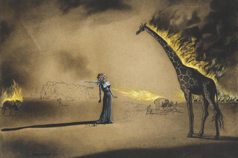Salvador Dali. Flaming giraffe