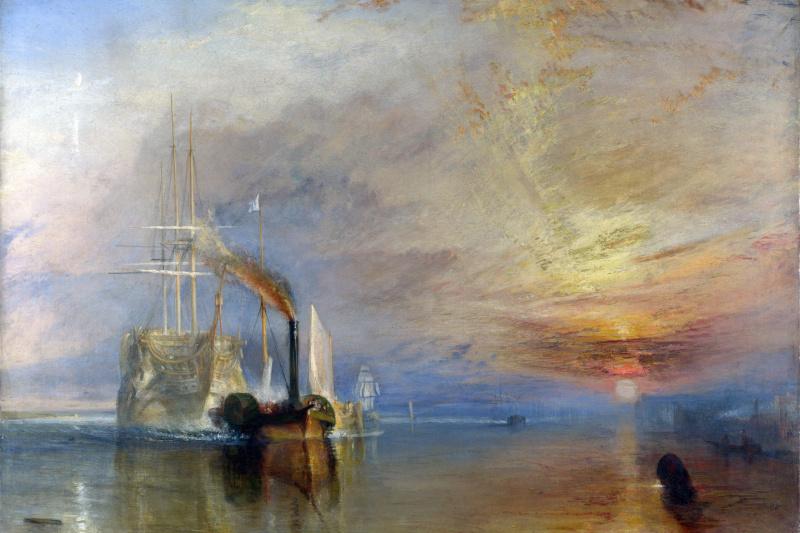 "Joseph Mallord William Turner. Last voyage of the frigate ""Brave"""