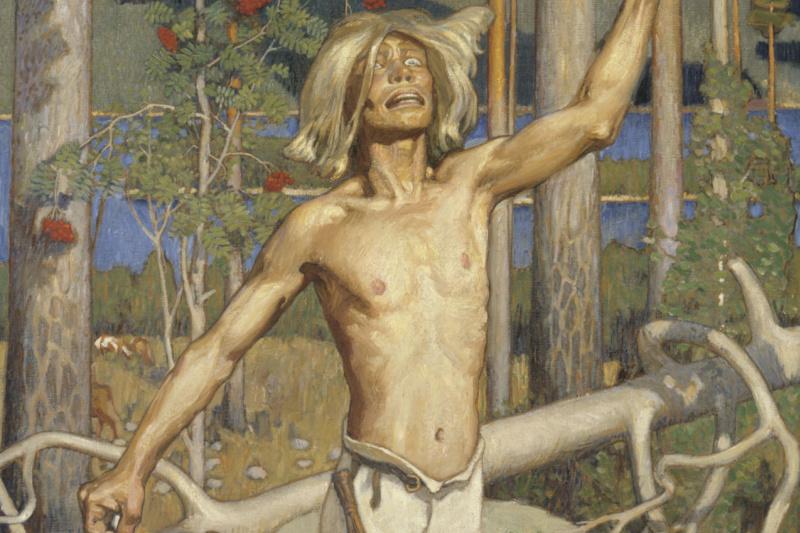 """Axeli Valdemar Gallen-Kallela. The Curse of Kullervo (illustration to the poem """"Kalevala"""")"""