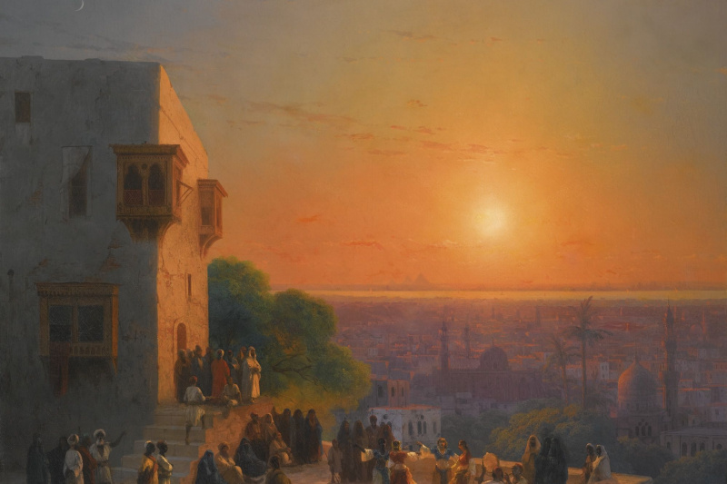 Ivan Aivazovsky. A night in Cairo
