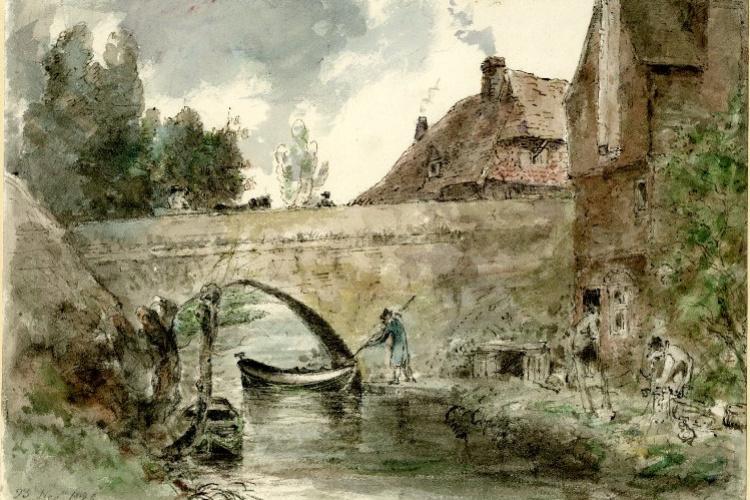 John Constable. Bridge Harnham