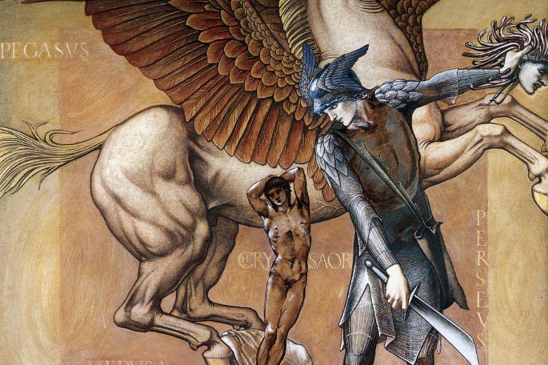 Edward Coley Burne-Jones. Perseus. Death of Medusa