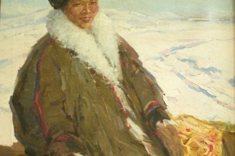 Vadim Anatolievich Baldin. Nenets girl on sled