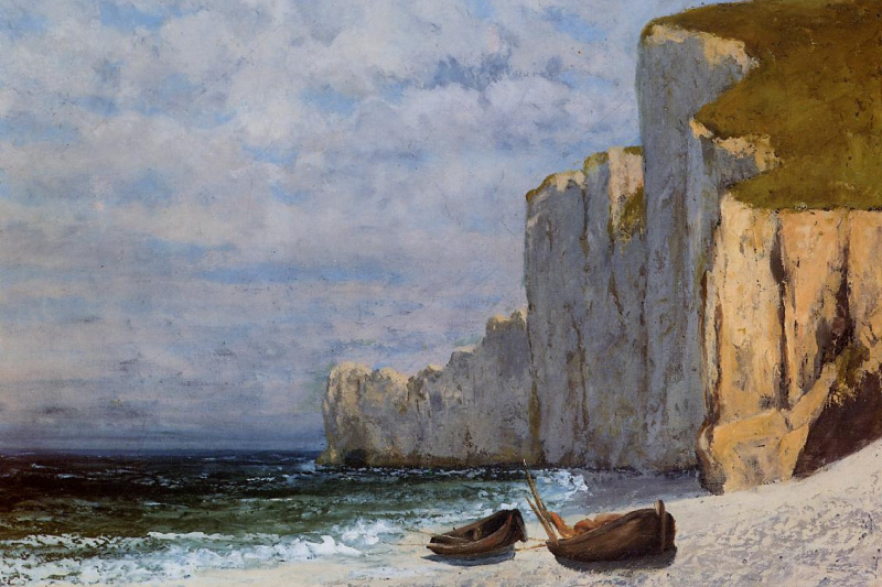 Gustave Courbet. Bay with cliffs