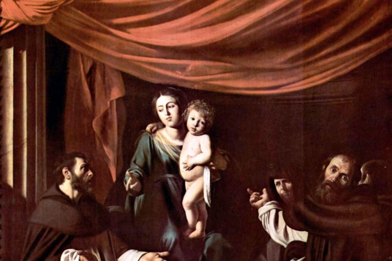 Микеланджело Меризи де Караваджо. Мадонна Розария