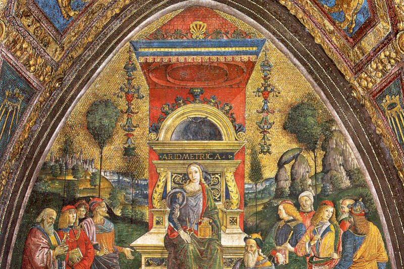 Pinturicchio. The lady on the throne