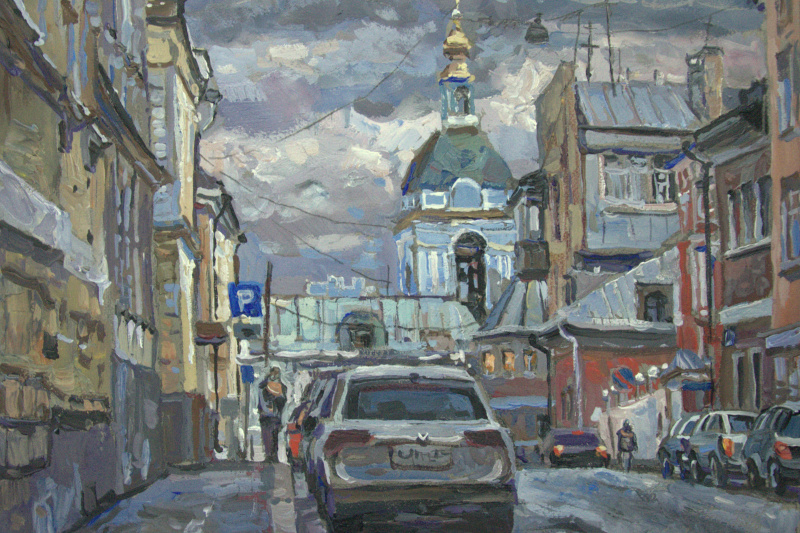 Oleg Borisovich Zakharov. Peter and Paul Lane towards Yauzsky Boulevard.