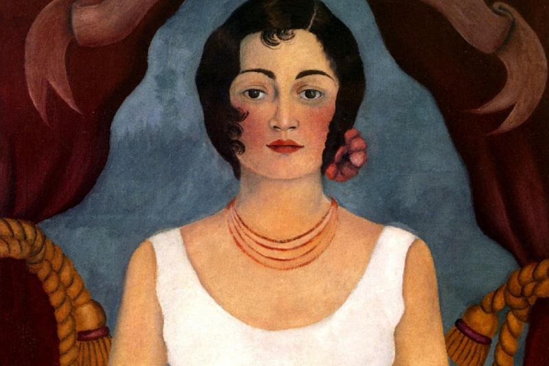 Frida Kahlo. Portrait of an unknown in a white dress