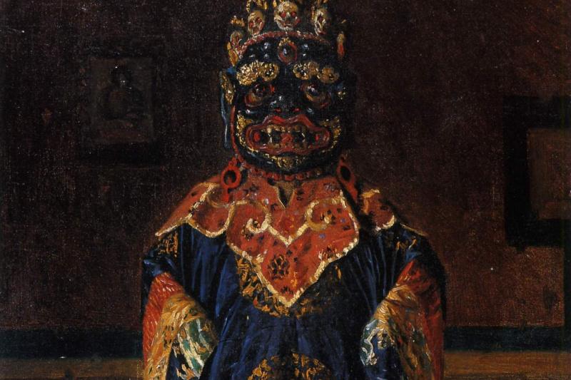 Василий Васильевич Верещагин. Лама так называемой «Красной секты» в полном облачении. Этюд из серии «Путешествия в Индию»