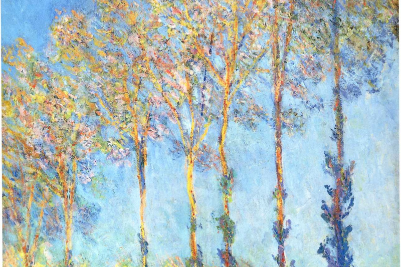 Claude Monet. Poplars on the banks Apte