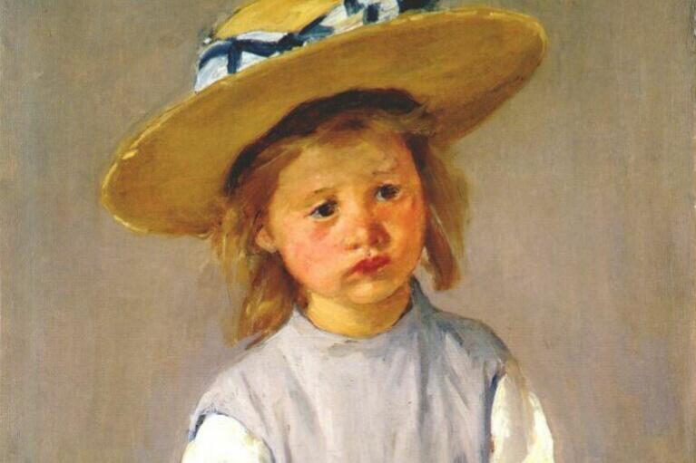 Mary Cassatt. Child in a straw hat