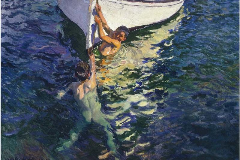 Joaquin Sorolla (Soroya). White boat, jávea