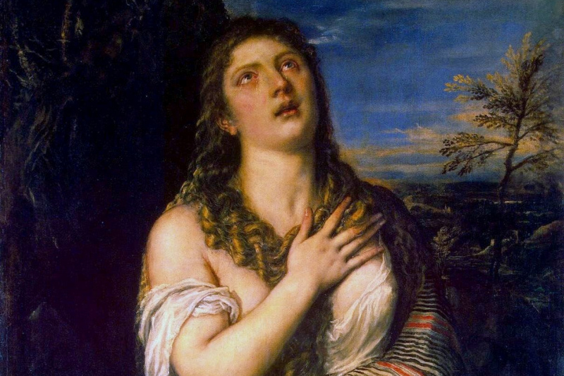 Titian Vecelli. Penitent Mary Magdalene