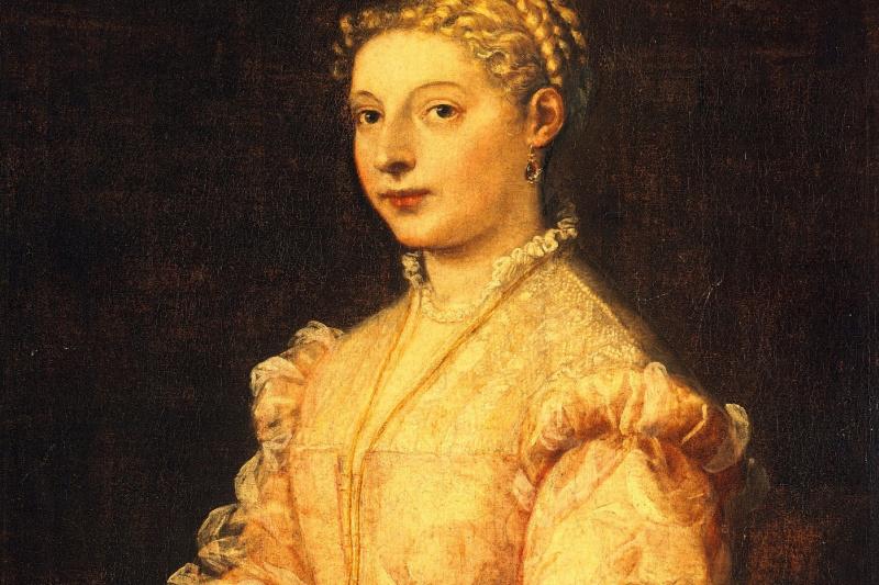 Titian Vecelli. Portrait of a young woman (Portrait of the artist's daughter, Lavinia, Vecceli)