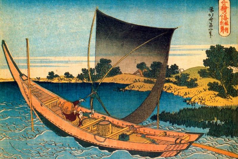 Katsushika Hokusai. Tone nella provincia di Shimosa