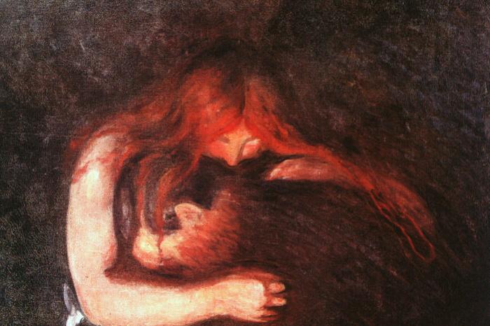 Edvard Munch. Vampire