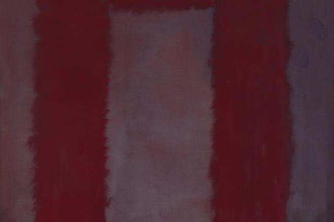 Rothko Mark. Red on Burgundy