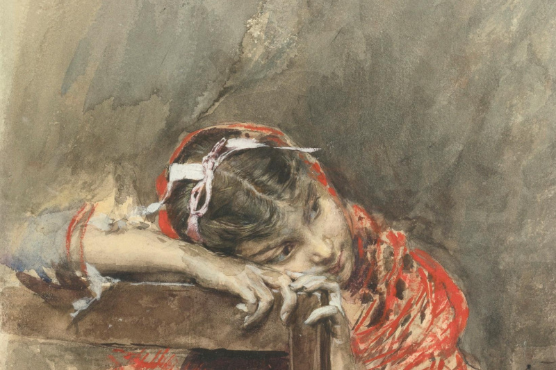 Giovanni Boldini. Lady in red dress