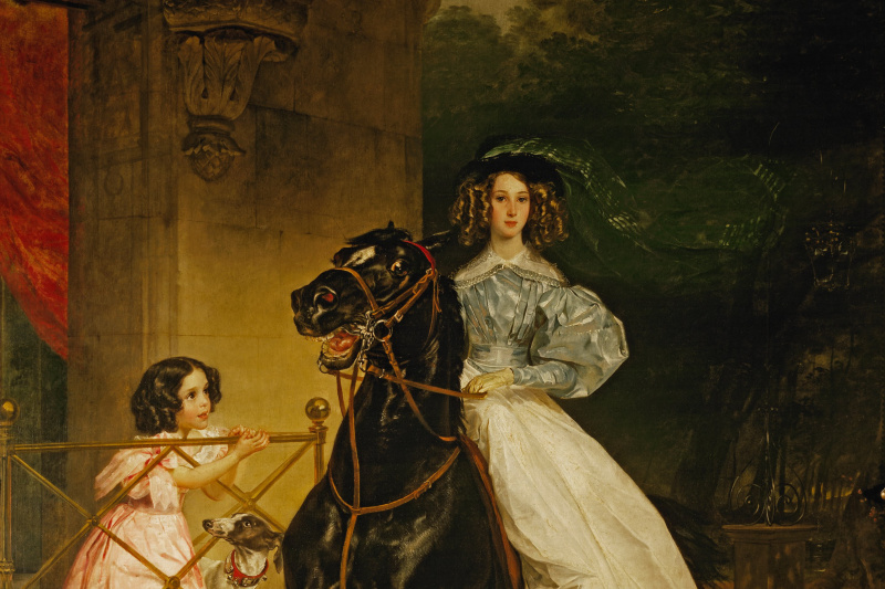 Karl Pavlovich Bryullov. Rider. Portrait Dzhovaniny Pacini and Amazilia, pupils of Countess Y. P. Samoilova