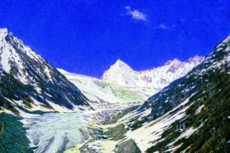 Vasily Vasilyevich Vereshchagin. Glacier on the road from Kashmir to Ladakh. Etude