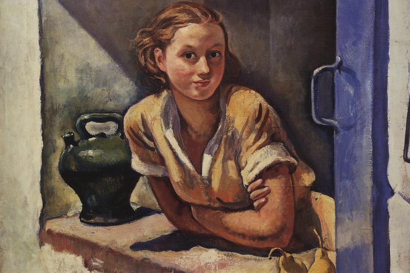 Zinaida Serebryakova. Collioure. Katia on the terrace