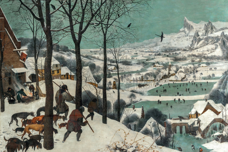 Pieter Bruegel The Elder. Hunters in the snow