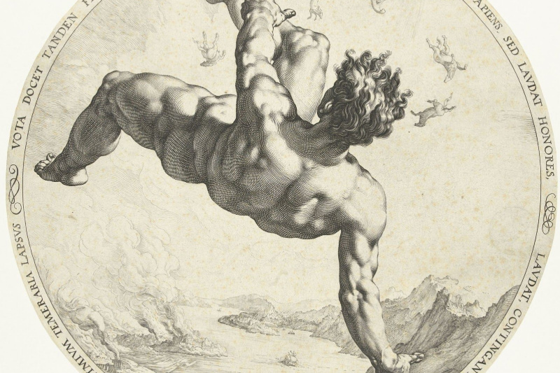 "Hendrik Goltzius. Phaeton, from the series ""Four shame"""