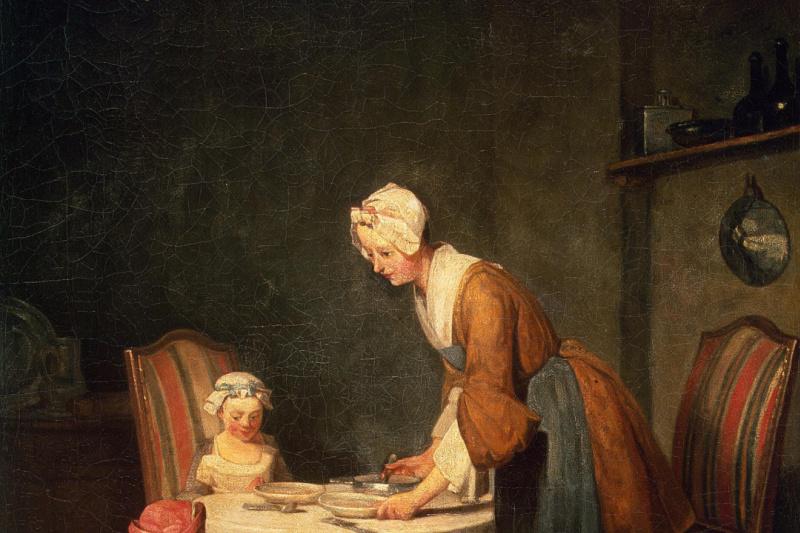 Jean Baptiste Simeon Chardin. Prayer before lunch