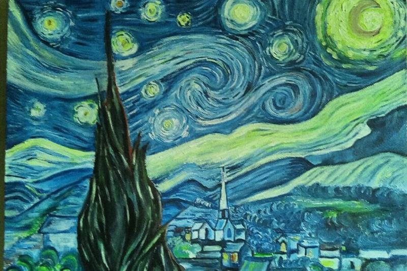 Rabiga Sagitova. Copy Starry Night