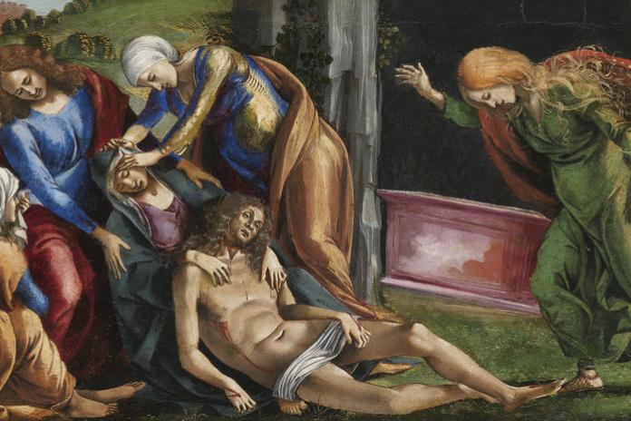 Luke Signorelli. Lamentation over the dead Christ