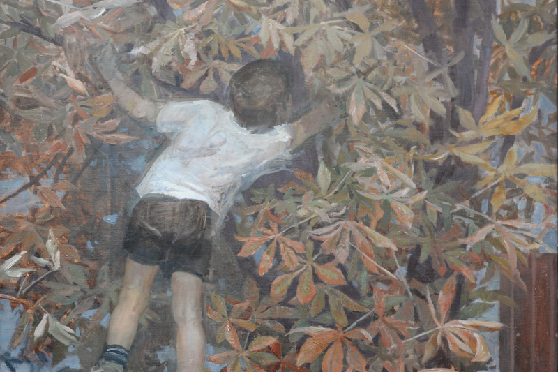 """Olga Menzhily. """"Time of chestnuts"""""""