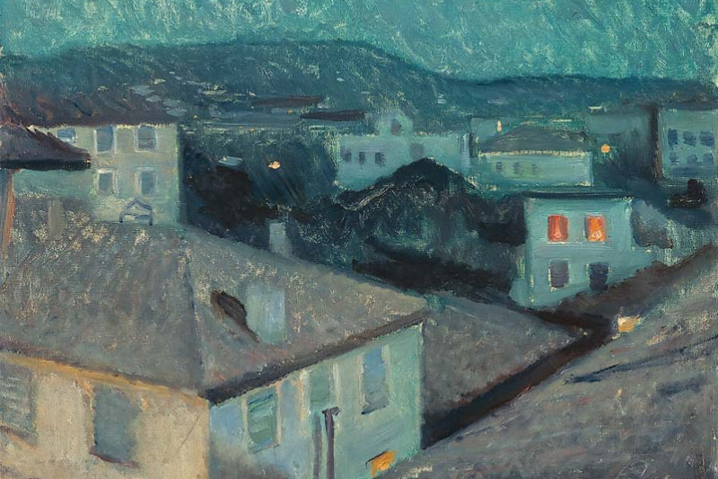Edvard Munch. Night in Nice